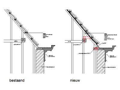 Den Haag Westeinde - Kaprestauratie - Detail