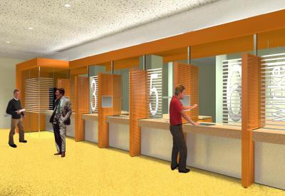 Den Haag - Pandhuis - Verbouw interieur - Presentatietekening
