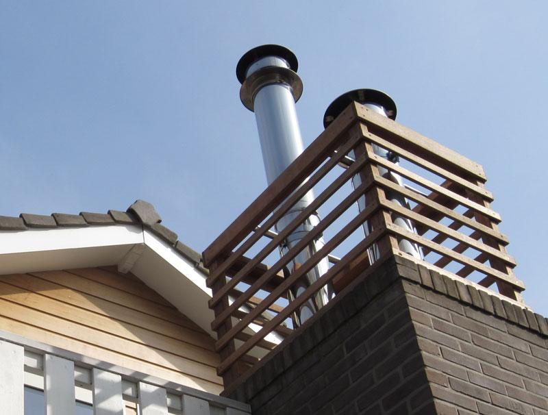 Diepenveen Olsterweg - Uitbreiding woning - Detail oplossing schoorsteen