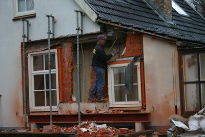 Diepenveen - Uitbreiding woning Molenweg- Doorbraak tijdens bouw