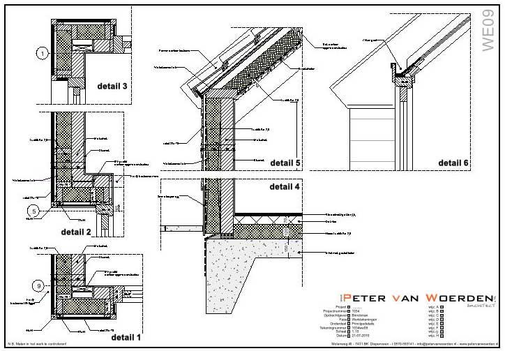 Uitbreiding van een woonboerderij - Details