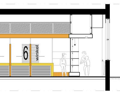 Den Haag - Pandhuis - Verbouw interieur - Bouwkundige tekening