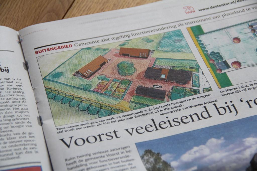 Klarenbeek - Rood voor rood - Artikel in de Stentor