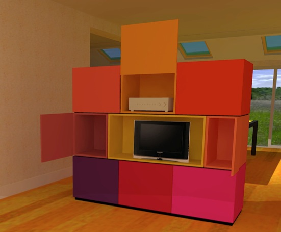 3D tekening room divider