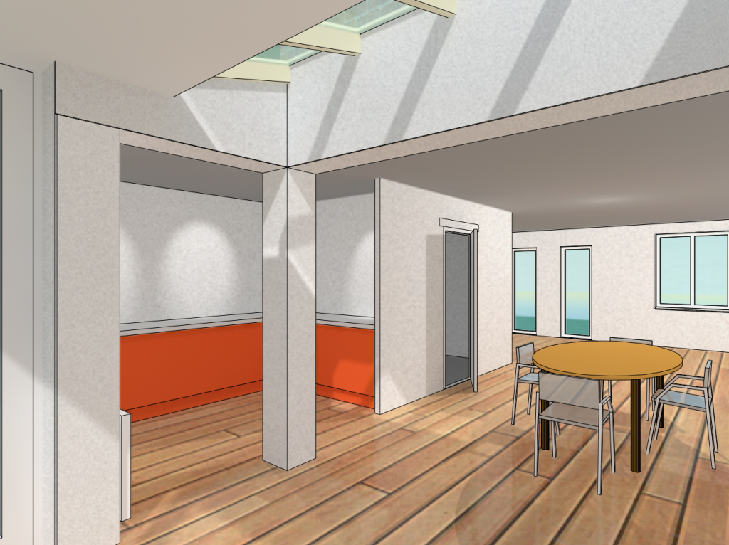 Diepenveen - Uitbreiding woning - Perspectieftekening interieur