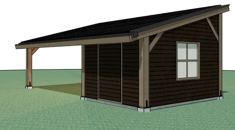 zeer peter van woerden architect carport en schuur met zonnepanelen jf78