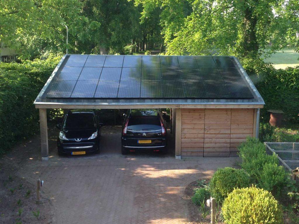 Peter van Woerden, architect - Carport en schuur met zonnepanelen
