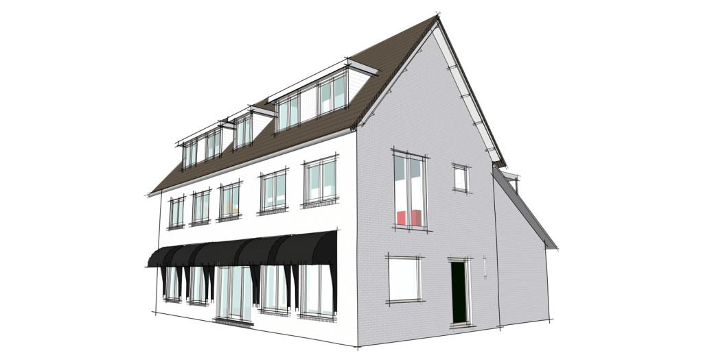 Uitbreiding bovenwoning Diepenveen - Perspectief exterieur