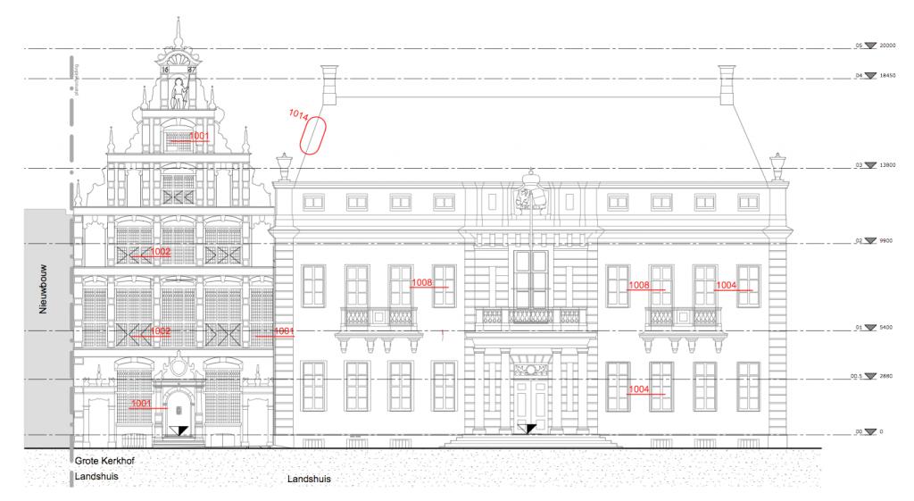 Stadhuis Deventer monumentale panden - Gevel