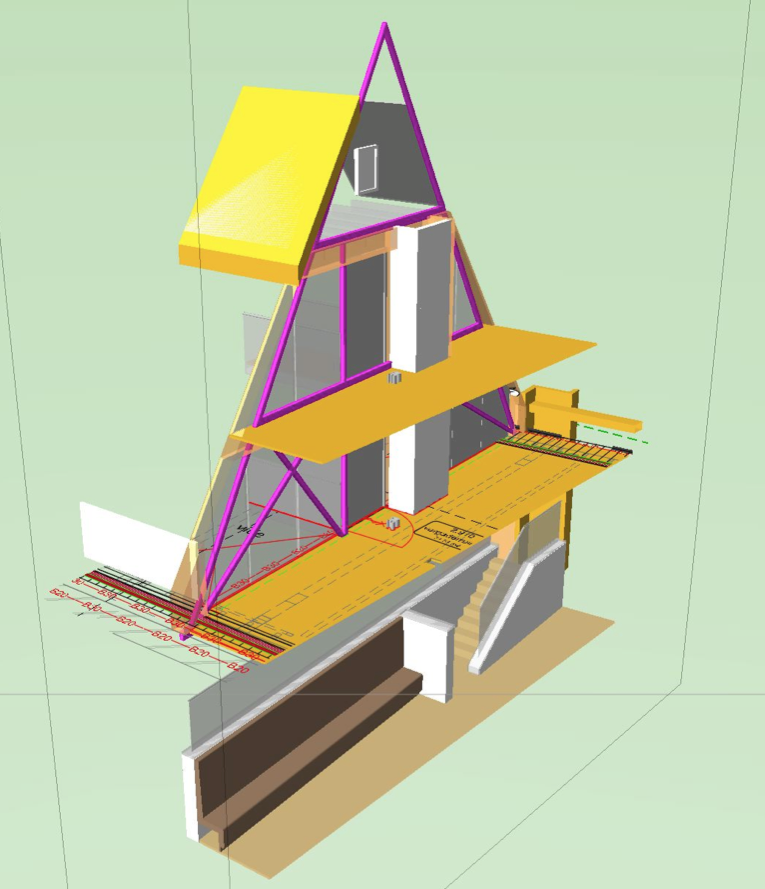 Stadhuis Deventer monumentale panden - studie staalconstructie