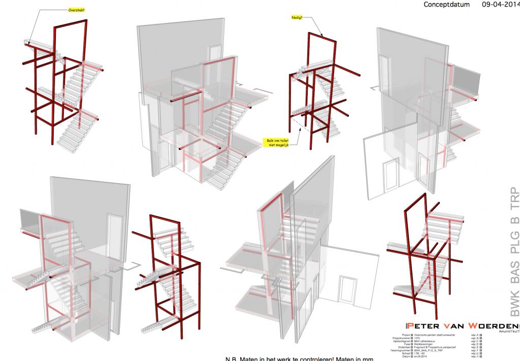 Stadhuis Deventer monumentale panden - studie trappenhuis