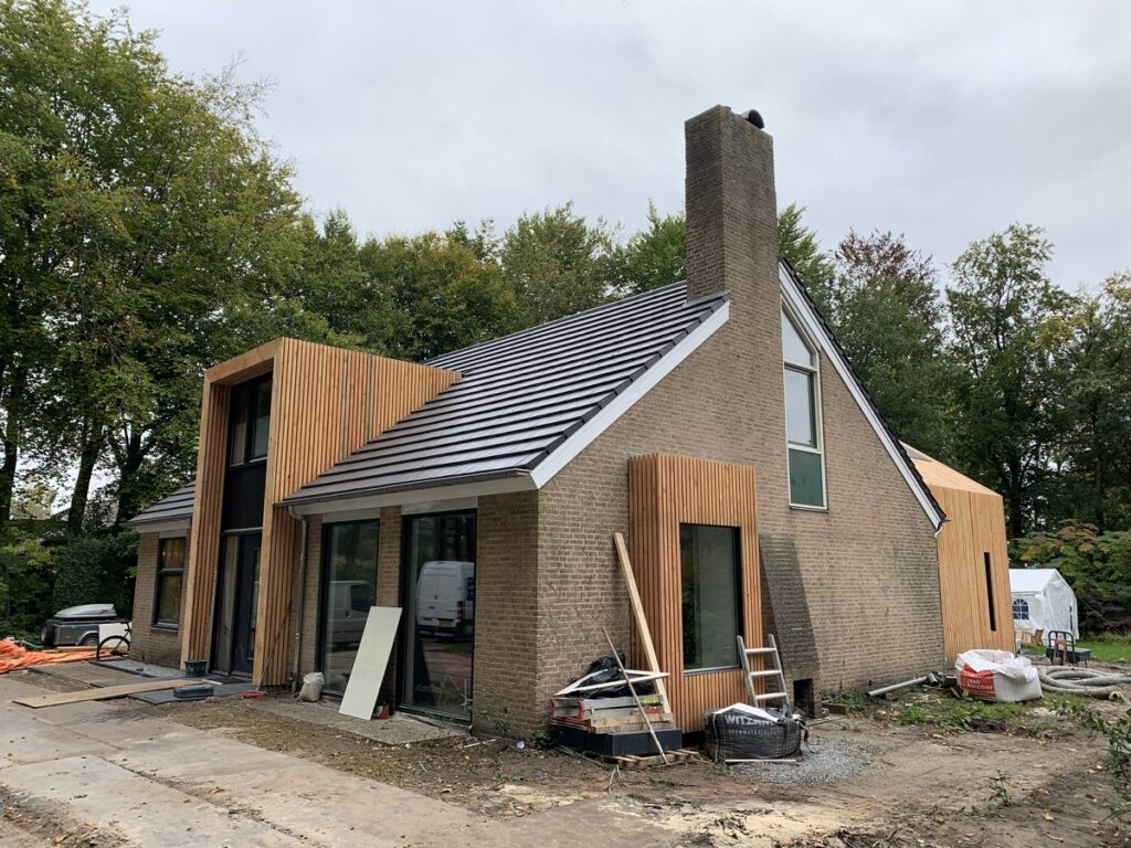 verbouw en uitbreiding woning Diepenveen - Voorgevel
